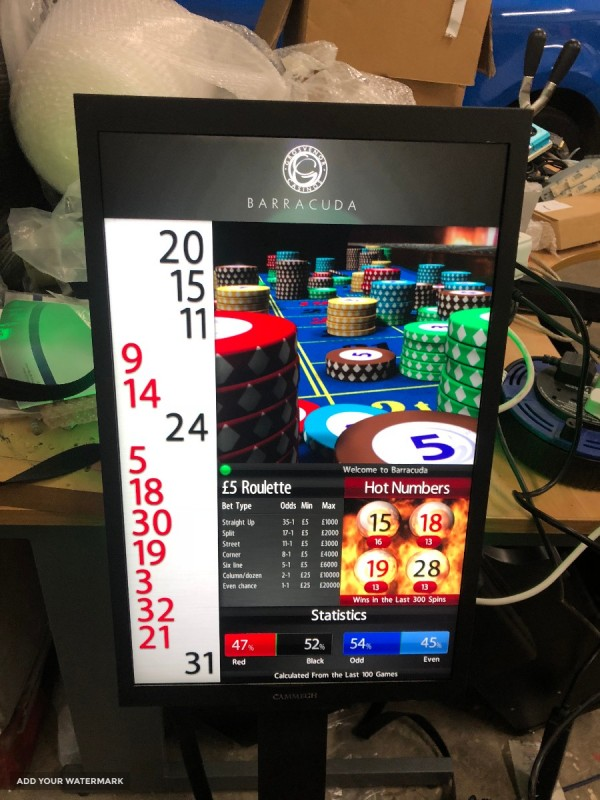 Roulette displays
